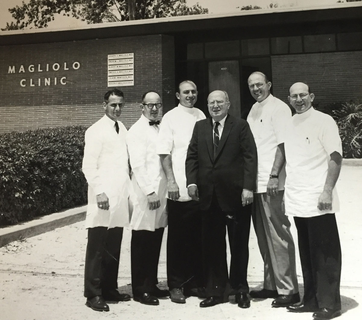 Dr. Amedeo, Dr. Joe, Dr. Adolph, Grandpa Andrew, Dr. Albert and Dr. Andrew.