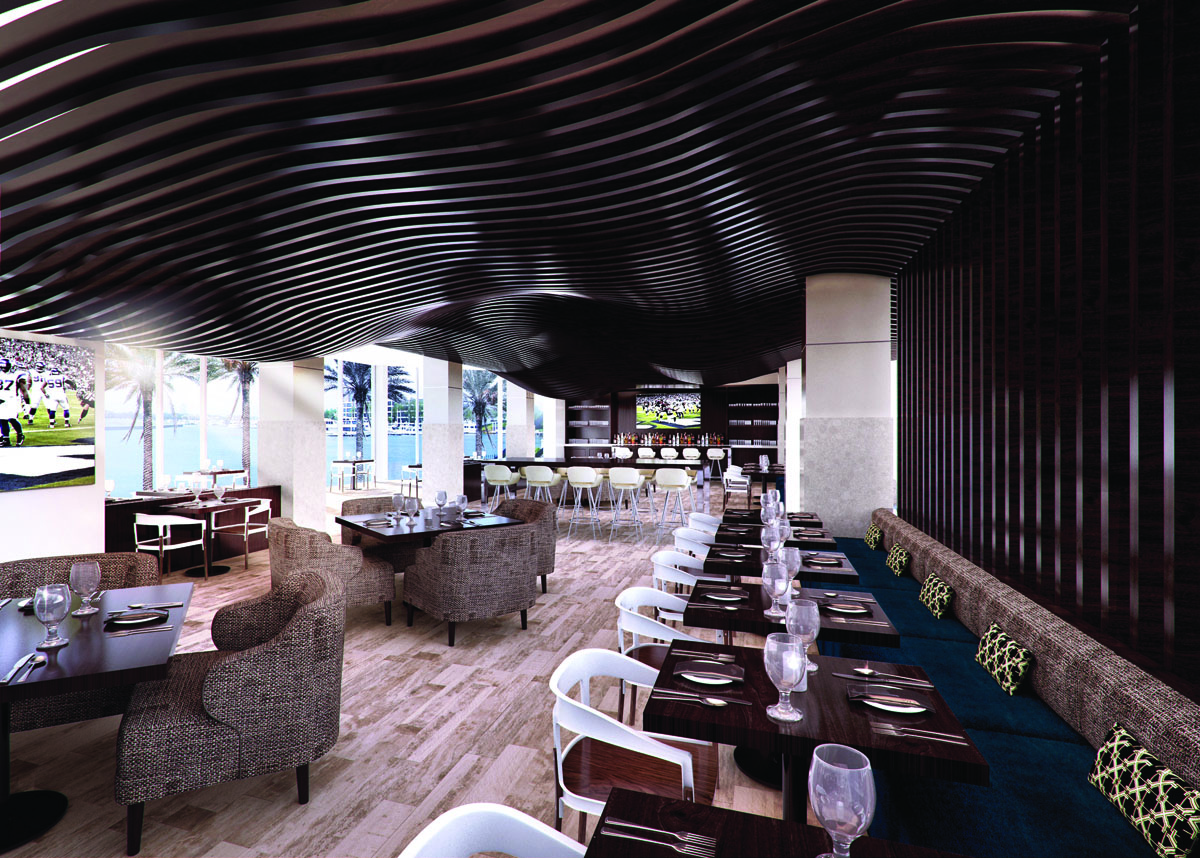 South Shore Harbour Resort lounge rendering.