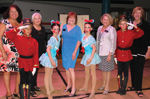 Ballet Board of Directors Kimberly Campbell, Judith Blanchard, Ellen King, Dr. Rosalind Perez and Pam Culpepper visit with Character Dolls Gabe Canepa, Sasha Bennett, Tara McCally and Justin Abel during Kickoff Reception at Bay Oaks Country Club in Clear Lake.