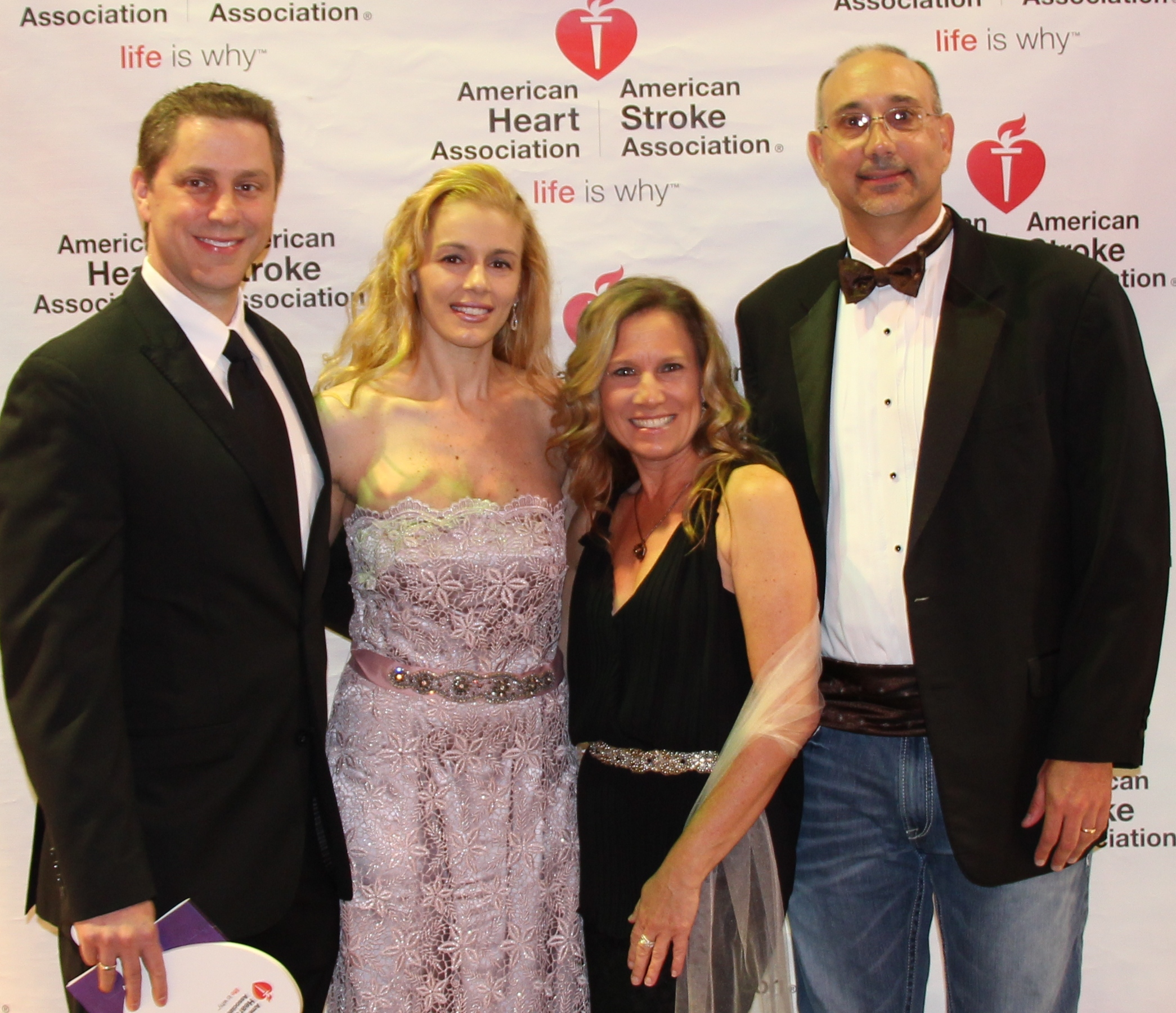 Drs. George and Nikoletta Carayannopoulos and Dr. Matthew and Michelle Hay at Heart Gala.
