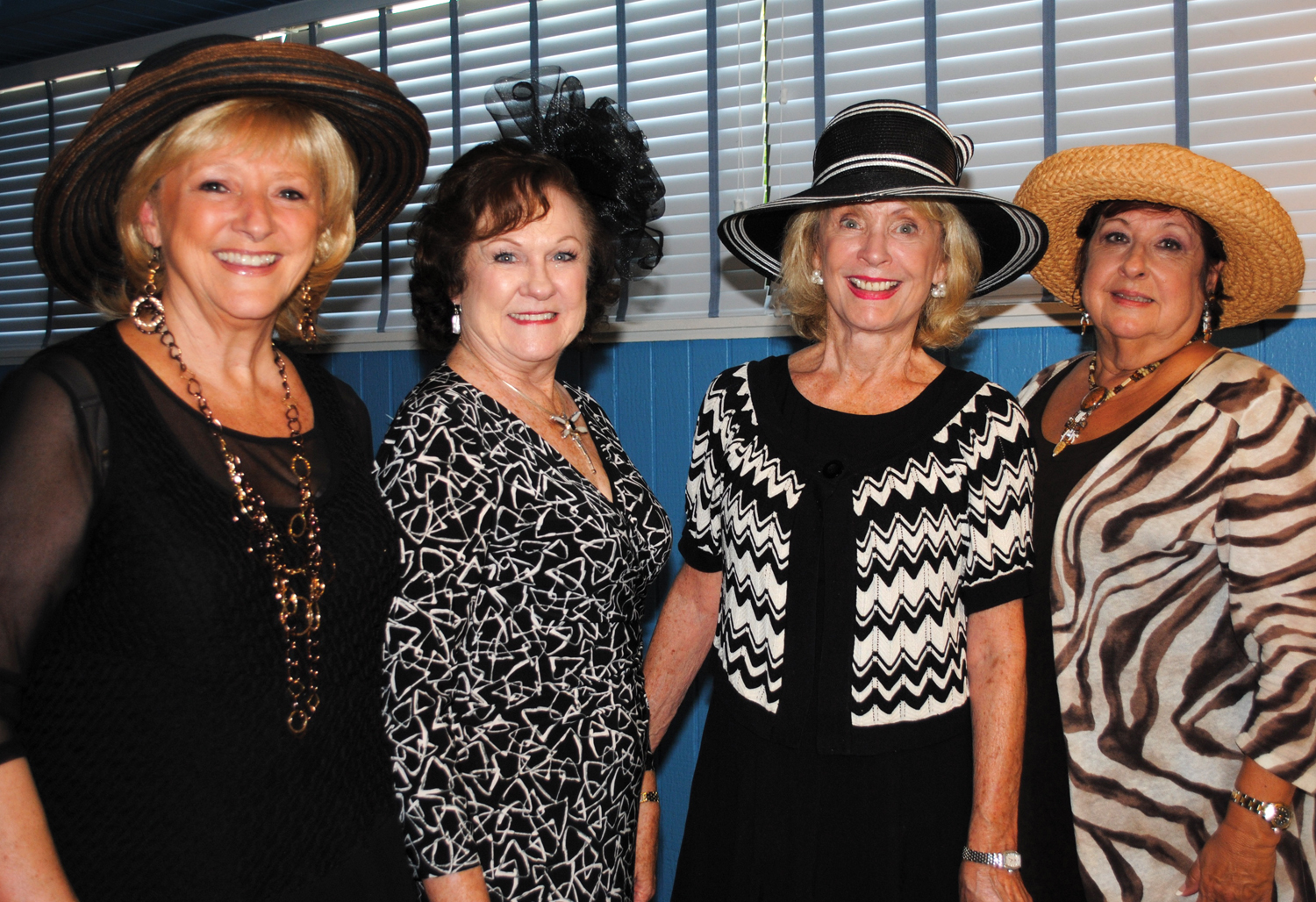 Lakewood Ladies Association members and guests enjoyed a British tradition as they gathered at the Yacht Club for Afternoon Tea. Among those enjoying the occasion were, from left, Era Lee Caldwell, Anita Fogtman, Mary Ellen Aldridge and Johnette Norman.
