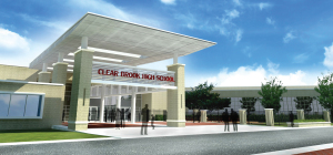 Rendering of Clear Brook High's Entry