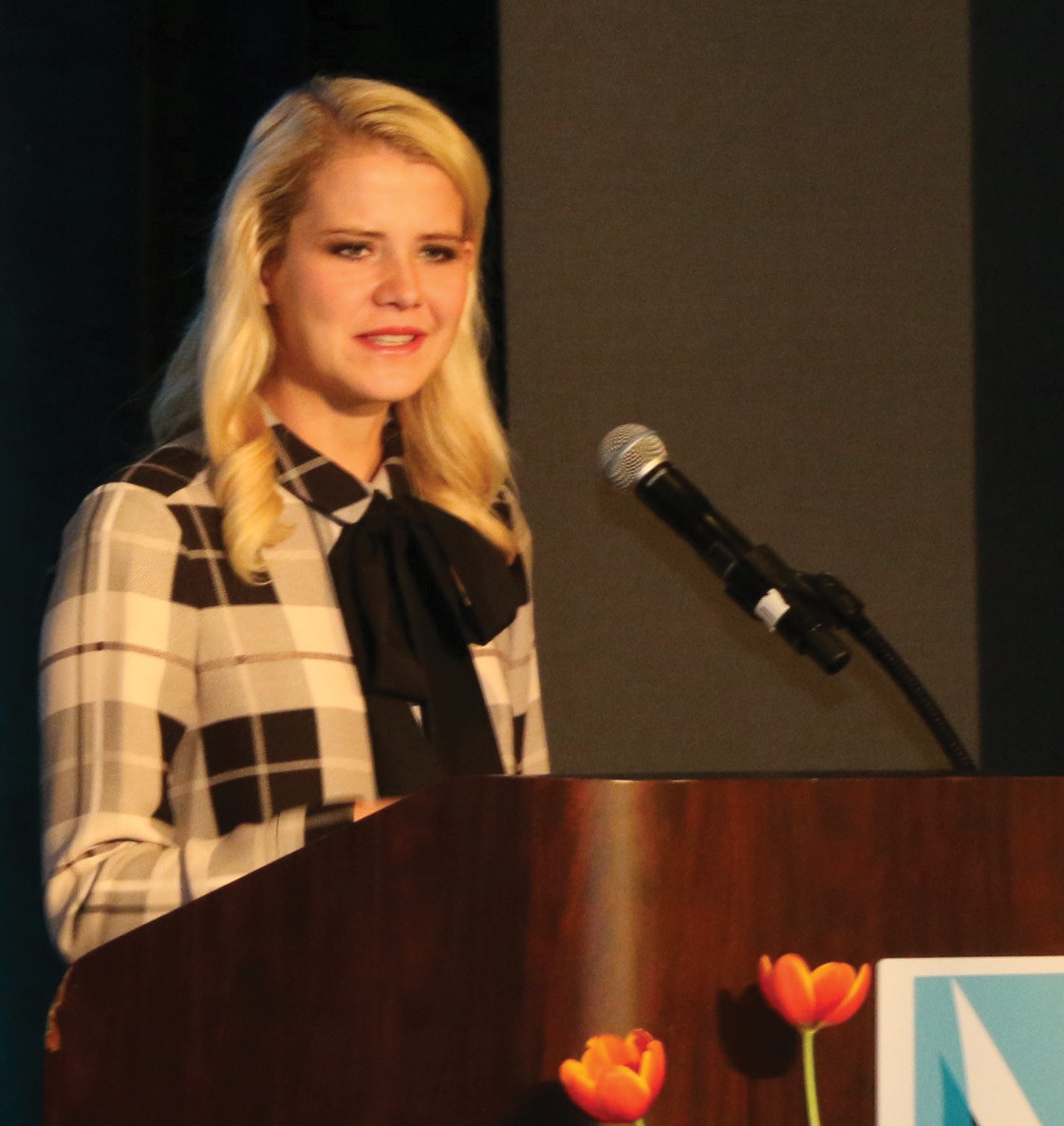 "Kidnap victim Elizabeth Smart, now a wife and mother, addresses the ""It's Your Time Women's Conference."""