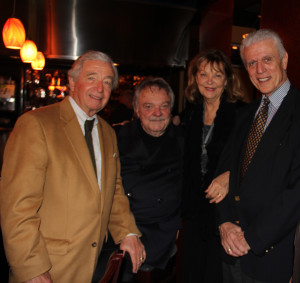 Friends such as Lou and Alice Marinos, right, and attorney Dick DeGuerin, left, gather around attorney Dick Gregg Jr. during Tribute Party at Tommy's in memory of Gregg's wife, Lynette Mason Gregg.