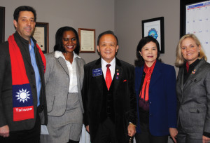 Space Center Rotary had some special guests in February – Rotary International President Gary Huang and his wife, Corenna. Here they were on hand when Space Center President Scott Rainey, from left, presented one of the club's 50 Random Acts of Kindness to Shanna as the Huangs and Rotary District Governor Lisa Marie Massey look on. Shanna was a homeless Nigerian immigrant, a domestic violence survivor and the mother of two who was presented money to furnish a rental home for her family and to help her with her goal to become a registered nurse.