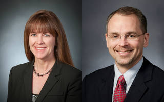 Janet Kavandi, director of NASA's Glenn Research Center in Cleveland, and Jim Free, deputy associated administrator for technical in the agency's Human Exploration and Operations Mission Directorate in Washington. Photos: NASA