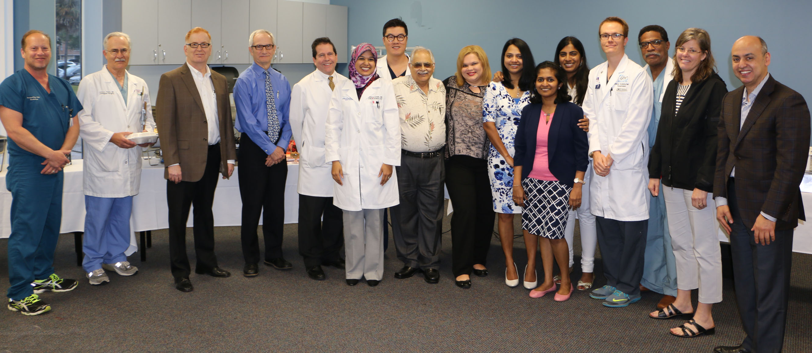 Staff physicians at Houston Methodist St. John Hospital were treated to special breakfast and lunch buffets, prepared in their honor to celebrate National Doctors' Day.