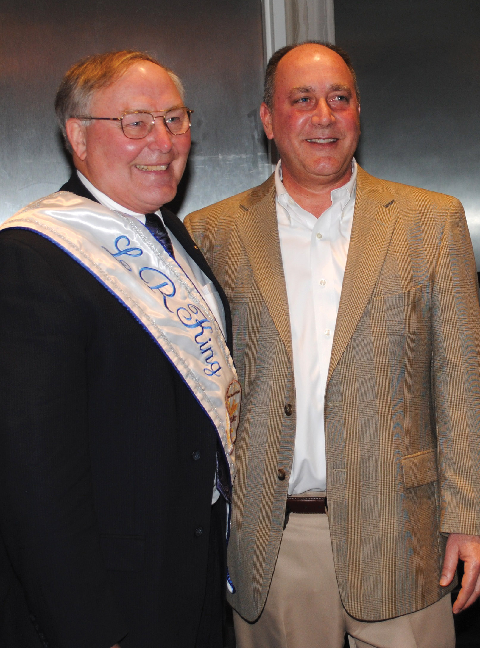 Festival King, Retired Astronaut Jerry Ross, Left, Is Introduced To The  Crowd At