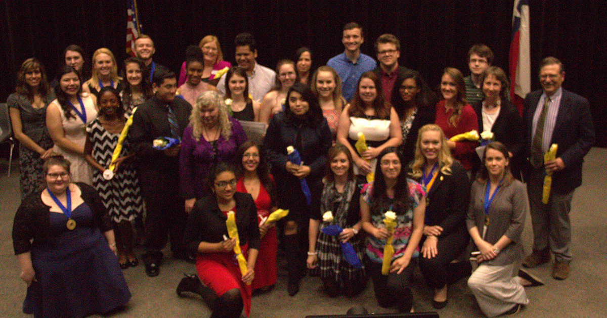 A total of 18 students were honored at the spring induction ceremony of the Phi Theta Kappa Honor Society at College of the Mainland. COM's chapter of Phi Theta Kappa is active in volunteering on campus and in the community, and it was recently ranked one of the top 100 chapters internationally.