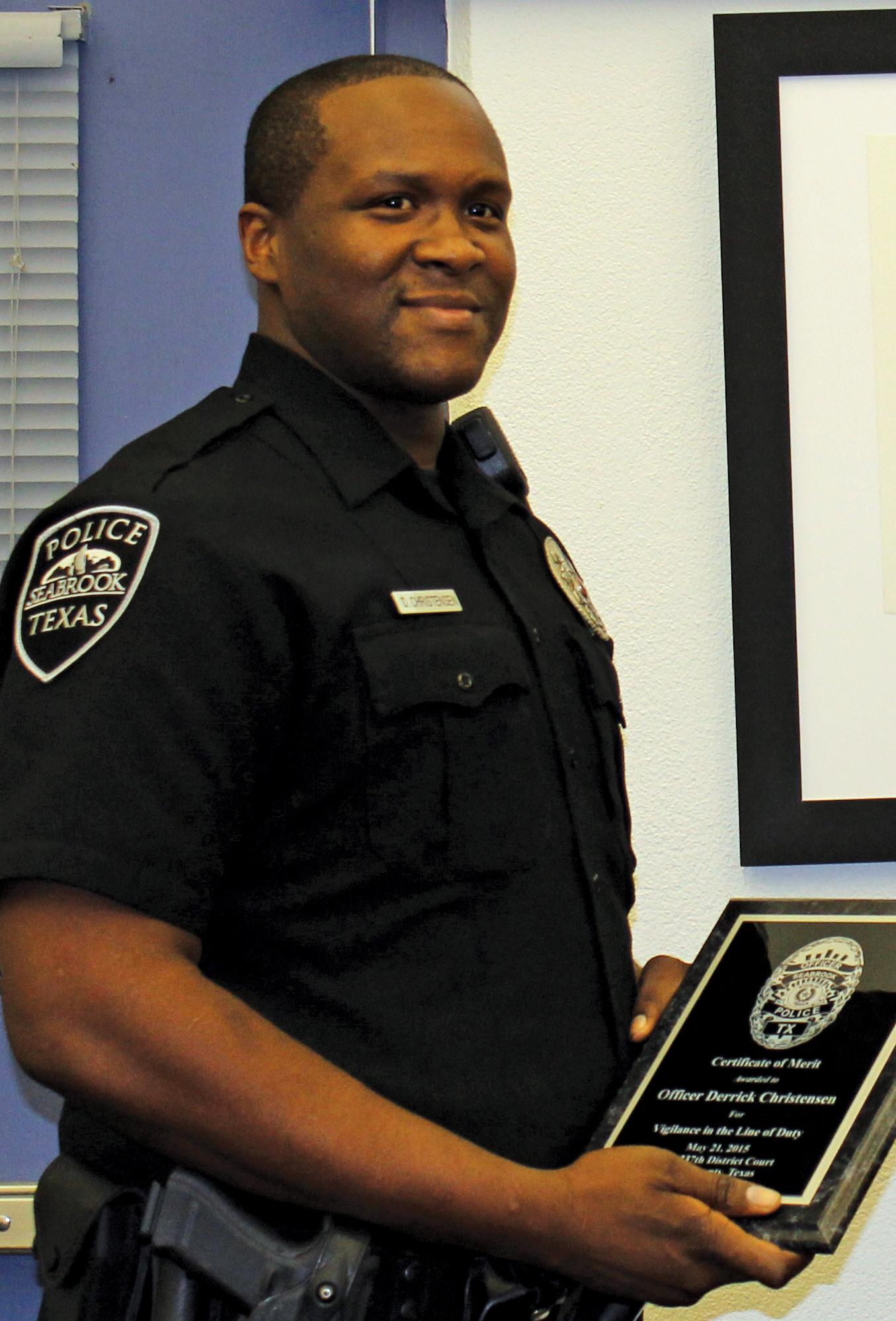 Seabrook Police Officer Derrick Christensen