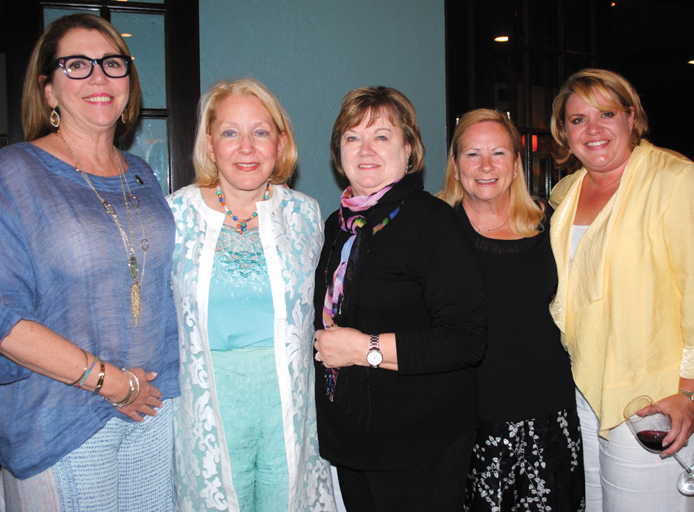 Five who once chaired a Lunar Rendezvous Festival swap stories during this year's Dining Event. They are, from left, Jill Williams Lammers, who is the current chairman of the Lunar Rendezvous Advisory Board; Pat Wilson, Mary Williams, Kathy Reeves and Kelli McCorkle Byrd.