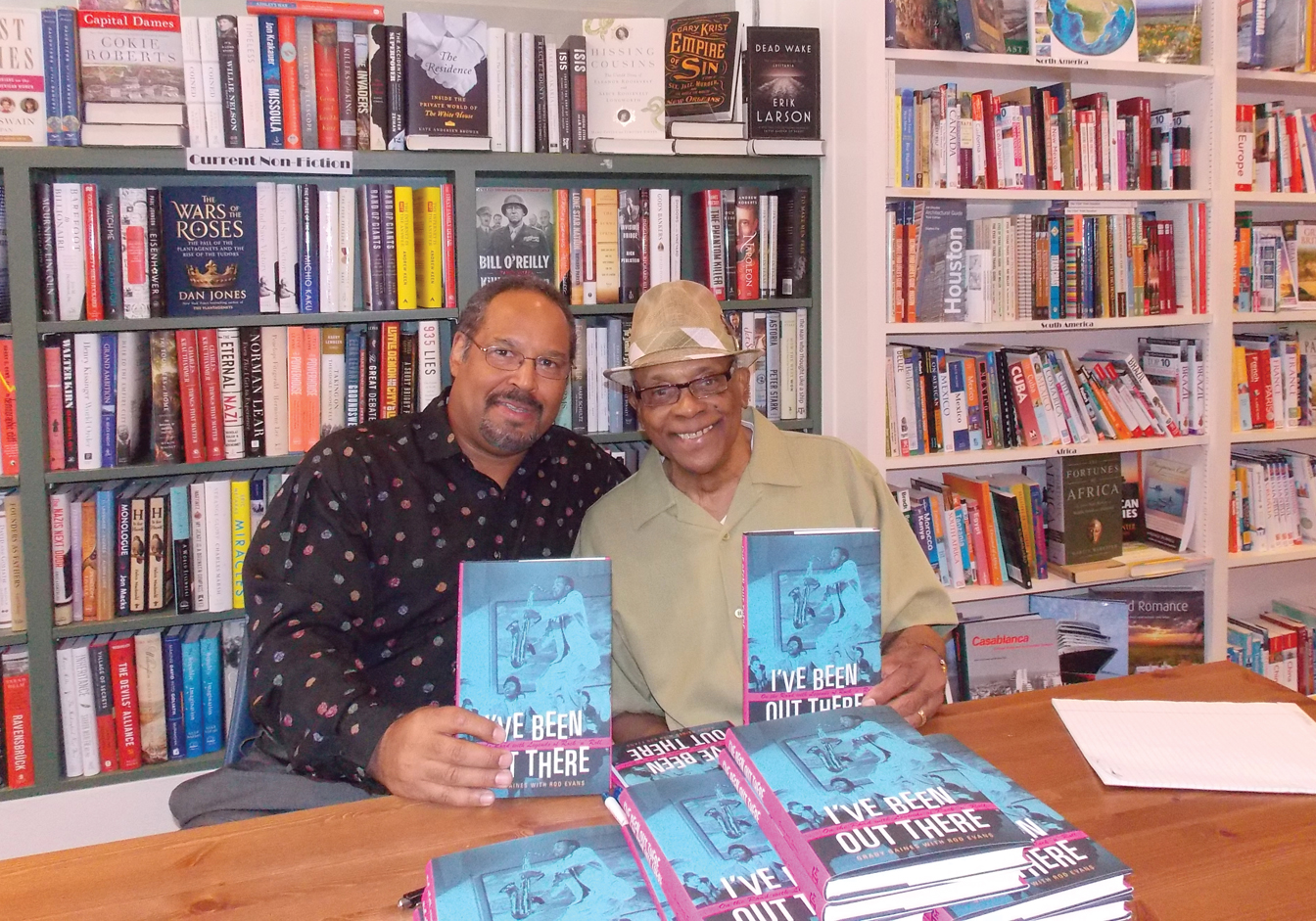 Author Rod Evans, left, with blues legend Grady Gaines.