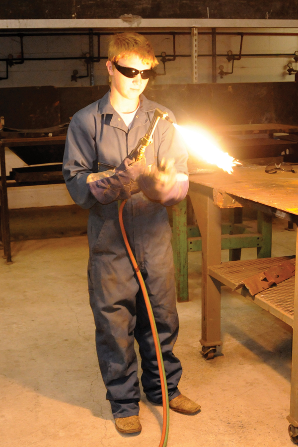 Barbers Hill School student learns welding skills