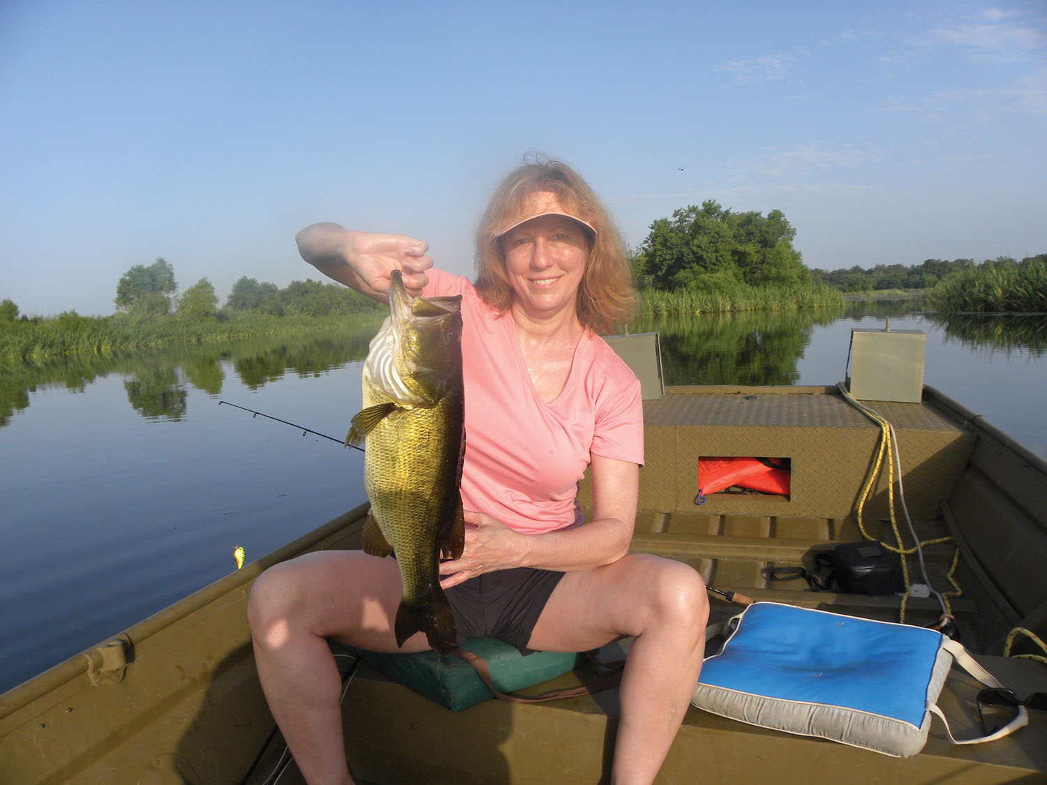 Cici Peterson with a nice spring time bass caught in Brazoria County.