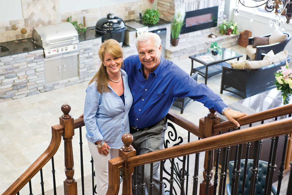 The owners of Maverick Remodeling and Construction, BJ and Kaysie Stampley
