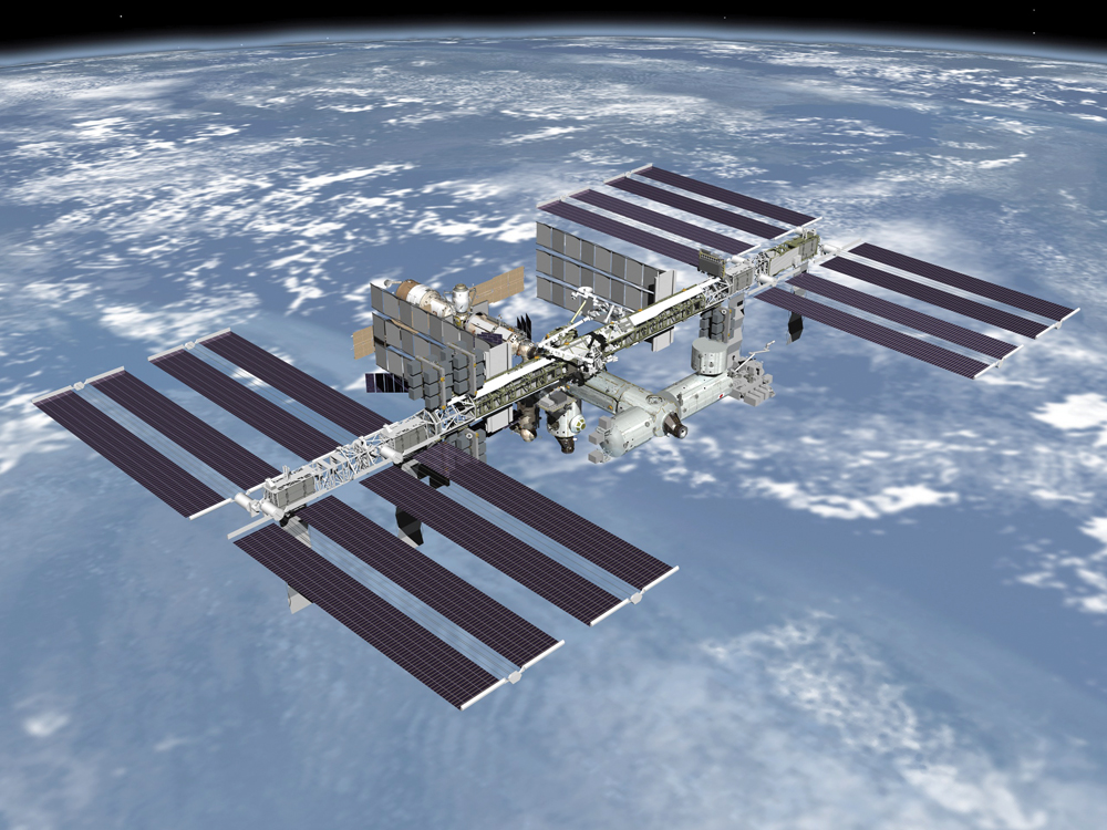 The space station is one of the brightest objects in the sky. Photo: NASA