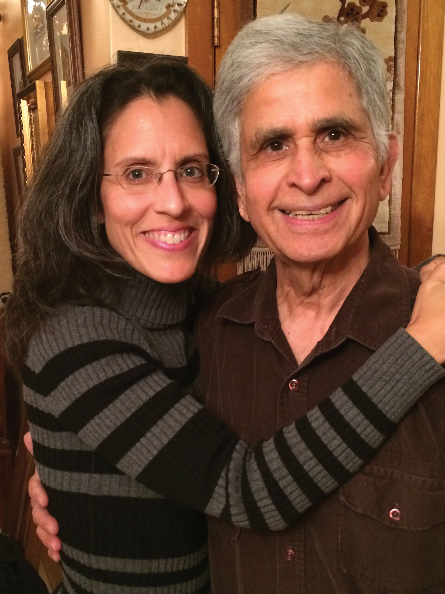 Indira Feaustal and her father Dr. Vijay Bhatnager