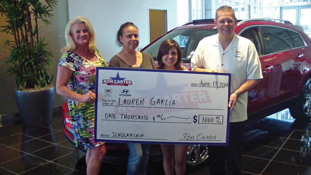 High Quality Deer Park High School Graduate, Lauren Garcia Is Another Talented And  Deserving Recipient That Received A Ron Carter Clear Lake Cadillac And  Hyundai ...