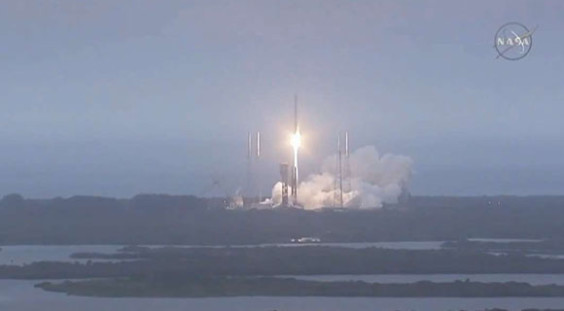 The Atlas V launch vehicle lifts off from Cape Canaveral Air Force Station carrying a Cygnus resupply spacecraft to the International Space Station. Liftoff was at 4:44 p.m. EST. Science payloads include experiments that will study the behavior of gases and liquids and clarify the thermo-physical properties of molten steel; and evaluations of flame-resistant textiles. Credits: NASA