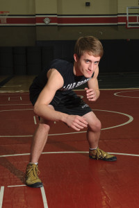 Clear Brook High School wrestler Patrick Spencer