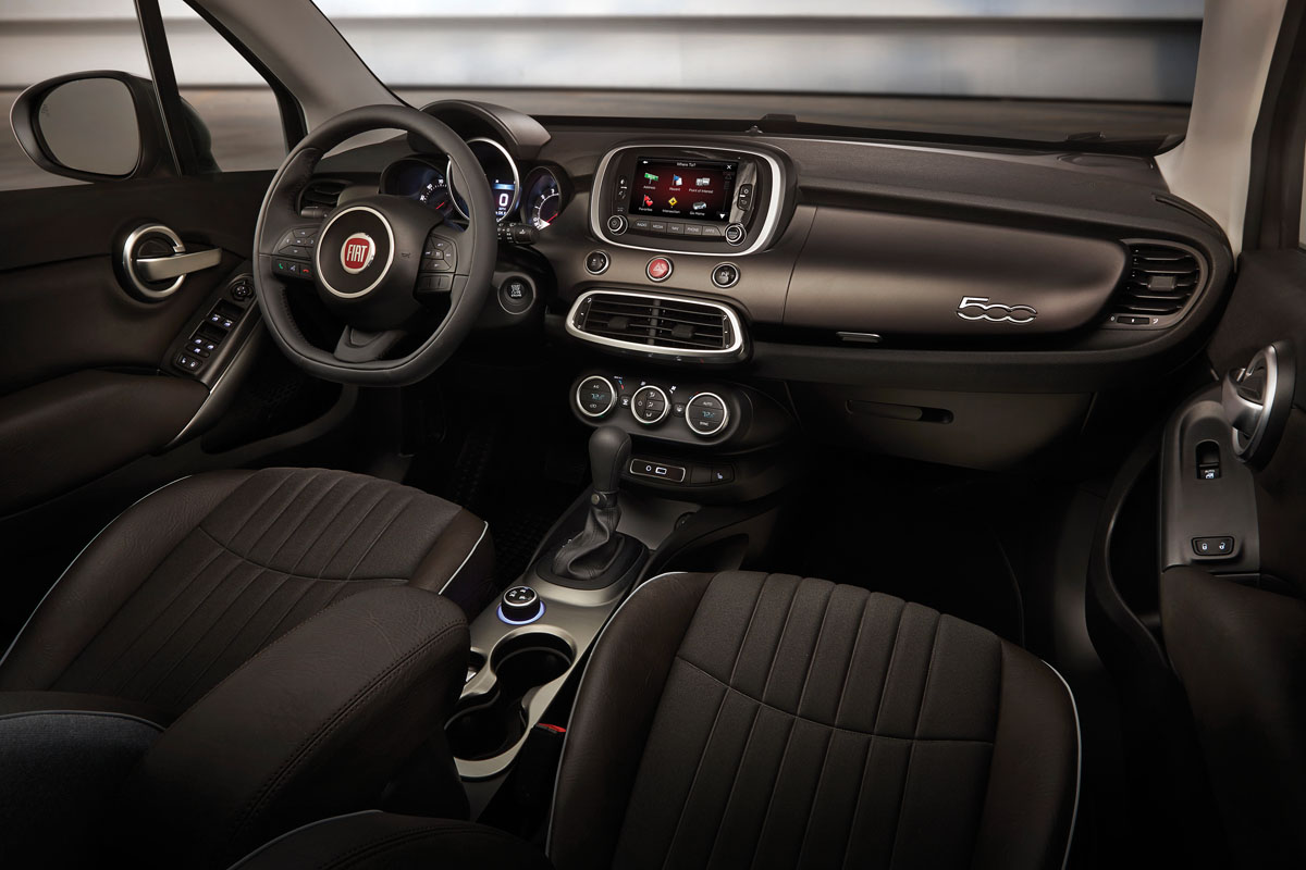 Interior of the Fiat 500X