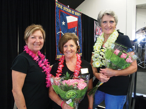 Pictured from the left, Marian Sparks, with Dorothy Gibbons and Dr. Dixie Melillo.