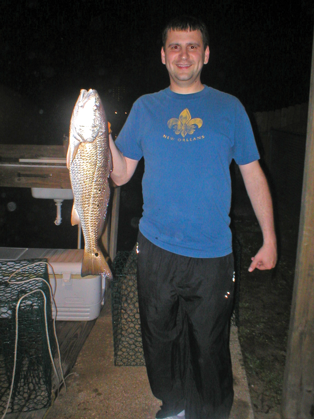Brannon Vickers with a slot redfish.