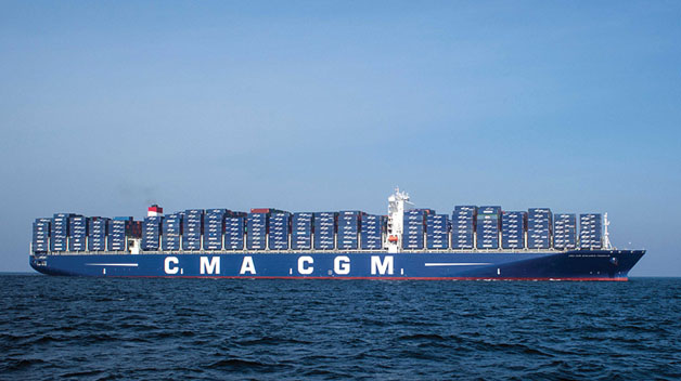 The Benjamin Franklin will be the largest container ship to visit the U.S. Photo by CMA CGM Group