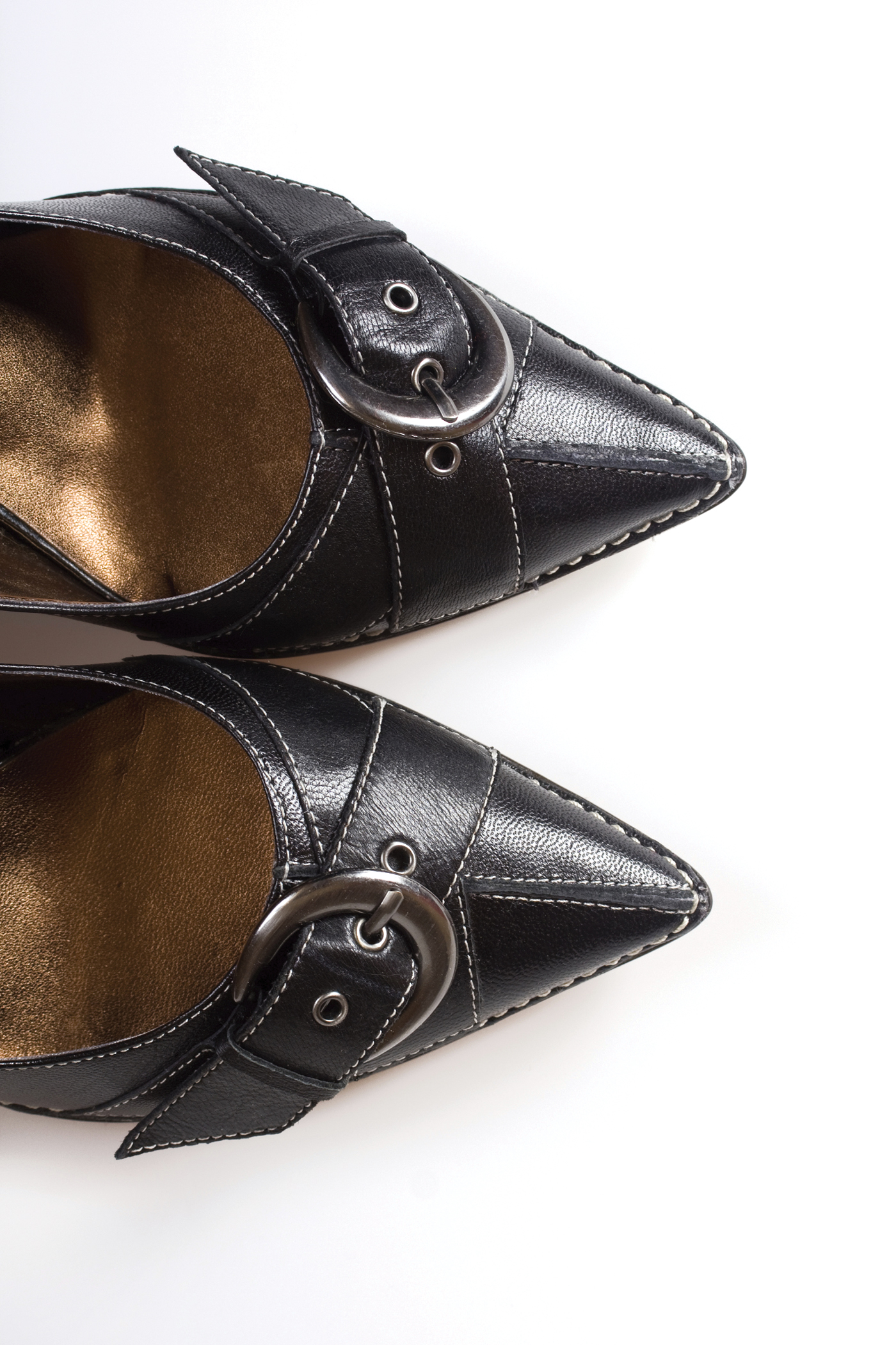 Pointed flats are all the rage this season.